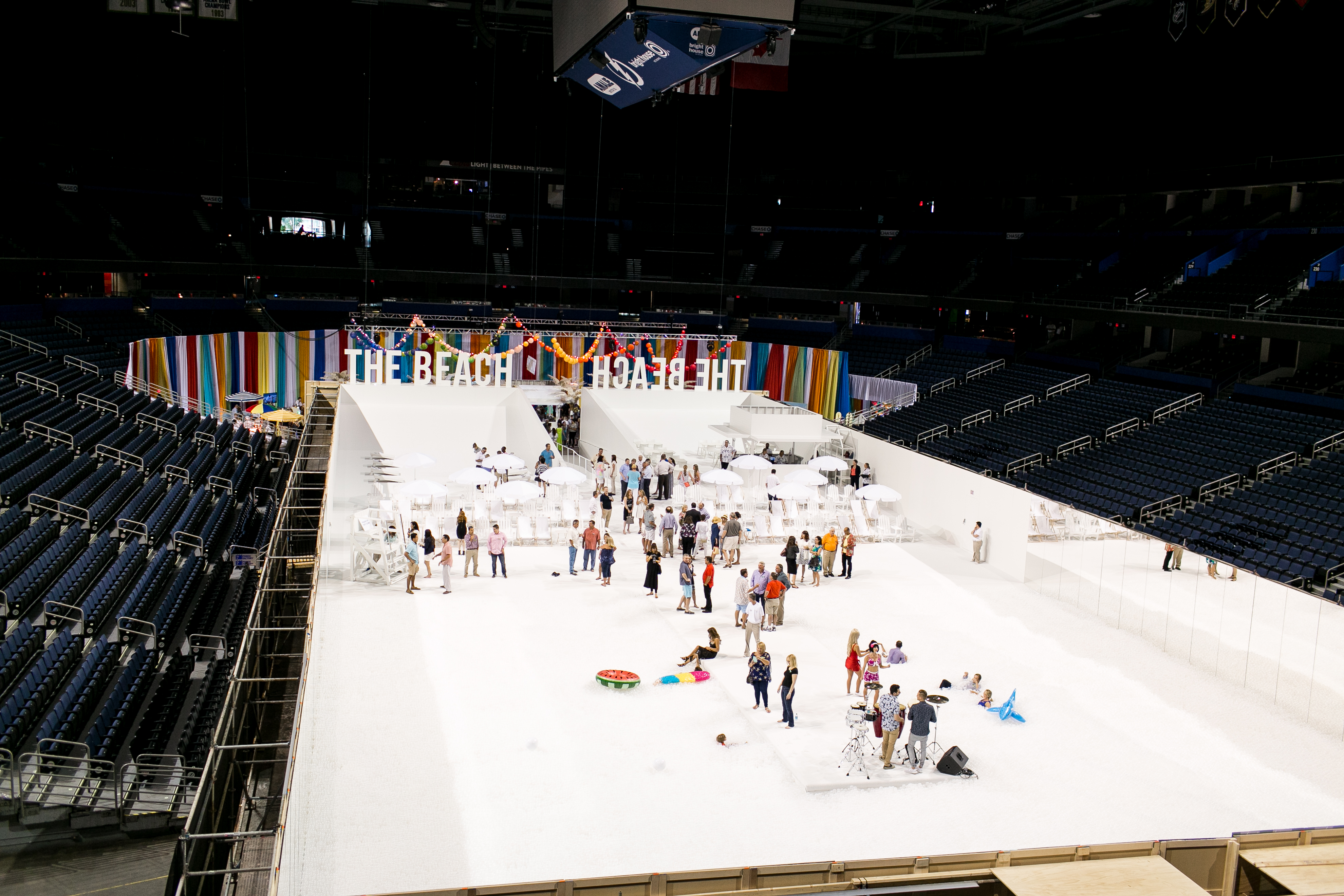 Amalie Arena For A Epic Beach Party New Sense Productions